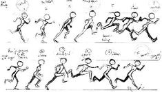 cartoon character action sheet walk - Google Search
