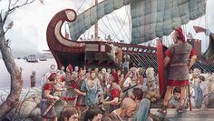 Deportacion de ligures en el puerto de Luni, 180 aC