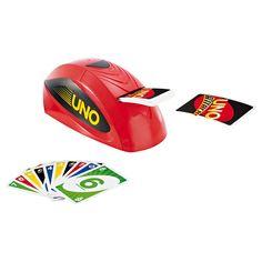 """Uno Extrême Mattel : Il peut distribuer jusqu'à 8 cartes au moment de la pioche !  Retrouvez le célèbre jeu de cartes, avec sa """"rampe de lancement"""" qui peut projeter de fa...King Jouet, retrouvez tout l'univers, Jeux de cartes - Jeux de société"""