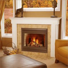 Gas Fireplace Design Ideas basement family room design ideas gas fireplace with wall mount tv on grey stone feature Small Gas Fireplace Design Ideas This Will Work Great In Our Space