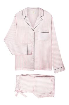 YOLKE | To the Beach Silk Stripe Pyjamas