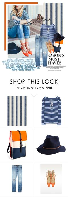 """Happy Weekend"" by lacas ❤ liked on Polyvore featuring Dash & Albert, H&M, 81hours, Brixton, J Brand, Pinko, Stella & Dot, denim, weekend and flats"
