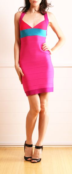 Really love this colorblock dress!