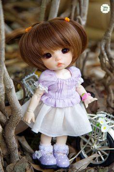 Lati Yellow/ Pukifee Lovely Daisy Top Purple by YlangGarden