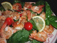Shrimp and Spinach Salad...