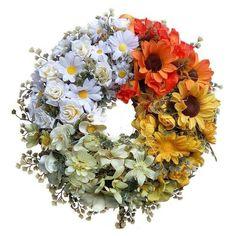 Színátmenetes koszorú Floral Wreath, Decor, Floral Crown, Decoration, Decorating, Flower Crowns, Flower Band, Deco, Garland