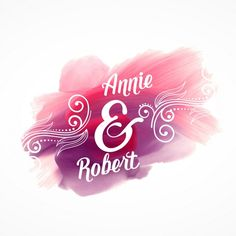 belo efeito rosa curso de pintura com detalhes do convite do casamento Vetor grátis
