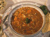 Irish Beef, Barley and Vegetable Soup Lentil Soup Recipes, Vegetable Soup Recipes, Vegetable Beef Barley Soup, Vegetable Stock, Irish Beef, Spicy Sausage, Sausage Soup, Homemade Soup, Sauerkraut