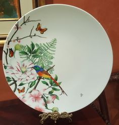 China Painting, Little Birds, Tablescapes, Dish, Paintings, Collections, Cook, Drawings, Tableware