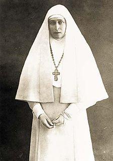Foto di Elizaveta(nata Assia-Darmstadt) in abito monastico (1915 circa)
