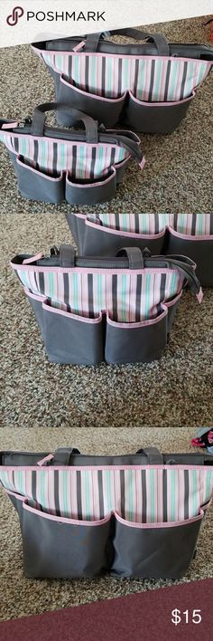 Koala Kids Diaper bag set One large and one small diaper bag. Name was on bottom of biggest bag so scribbled out w black marker but that is the only flaw. 4 outter pockets on each bag, large bag has plastic pouch for diapers, baby items and a portable changing pad. Koala Kids Other