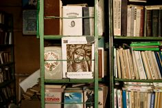 Carolyn Drake, Alpamysh, a Turkic epic, among other books in the school library in Bogen. Kazakhstan, 2009