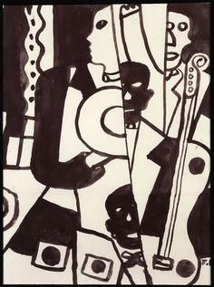 Jazz (Variante) by Fernand Leger, c. 1930 Paris, Galerie Berès