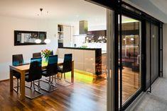 Einfamilienhaus# Satteins# Massivbau# Pool# modernes Einfamlienhaus# design Haus# mit pool# Wohndesign Classroom Door, House Design, Doors, Simple, Kitchen, Table, Furniture, Home Decor, Gardens