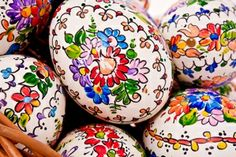 Pisanka -Traditionally painted Easter egg in Poland