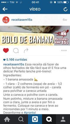 Bolo de banana. Receita fit ;)