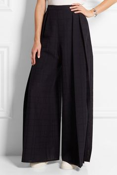 Front: 1205 Pleated checked wool wide-leg pants. Image via NET-A-PORTER.COM