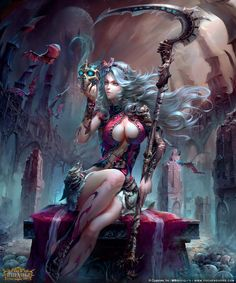 Death\'s Invitation by Yu Cheng Hong   Fantasy   2D   CGSociety