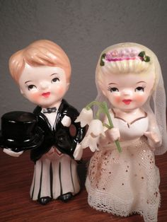 Vintage Bride and Groom. via Etsy.