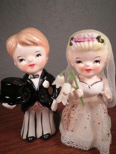 Vintage Bride and Groom. via Etsy.