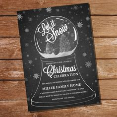 Chalkboard Christmas Party Invitation  by SunshineParties