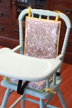 EYES WIDE OPEN: high chair makeover