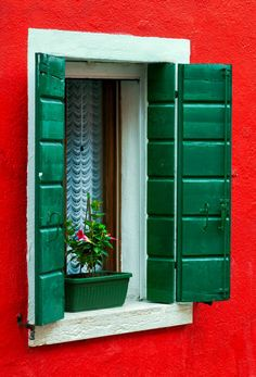 Burano, Italy (I love the effect, making it look like a miniature)
