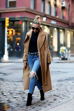 Camel Classics by Brooklyn Blonde - Coat: Mackage Brooklyn Blonde, Pastel Outfit, Fall Winter Outfits, Winter Fashion, New York Winter Outfit, Camel Coat Outfit, Long Coat Outfit, Trench Coat Outfit, Look Blazer