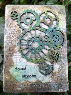 Calico Craft Parts: Steampunk ATCs by Alison