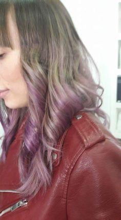 #shatush #coloured #colouredshatush #pink #violet #blonde #curly