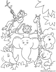 20 Best jungle coloring pages images | Coloring books, Coloring ...