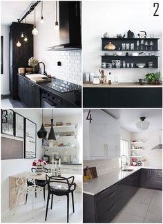 Decoração Preto e Branco - Cozinhas