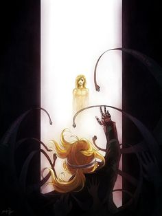 Fullmetal Alchemist ~ Edward Elric looking through the gate at his younger brother Alphonse Elric 鋼の錬金術師 Fullmetal Alchemist, Fulmetal Alchemist, Edward Elric, Sherlock Sad, Yuumei Art, Elric Brothers, Alphonse Elric, Sad Art, Arte Popular