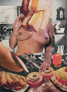 Linder, Sans titre, Photomontage original collage sur page de magazine