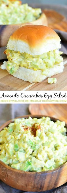 Wonderful version of a classic egg salad brought to you by Will Cook For Smiles. Everything is made better with avocado and in this case, there is creaminess from avocado and a little crunch from cucu