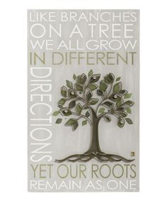 Love this 'Roots' Wall Plaque by Grasslands Road on #zulily! #zulilyfinds