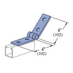 P1354 Unistrut Adjustable 4 Hole Hinge Connection. Eberl Iron Works, Inc. is a distributor of the Unistrut Metal Framing System.