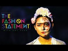 DIY Halloween Costumes: The Fashion Statement  at 6:00, is Dia de los Muertos makeup, paired with a Frida Kahlo costume