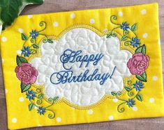 Looking for a unique birthday gift for a special friend, co-worker or loved one? This quilted and appliqued mug rug is just the thing to help celebrate their special day and add a touch of cheer to their kitchen or desktop. #birthdaygiftidea #birthdaymugrug #coffeelovergift #happybirthday Unique Birthday Gifts, Unique Gifts, Great Gifts, Happy Birthday, Handmade Gifts, Gift Of Faith, Christian Gifts For Women, Embroidered Gifts, Popular Colors