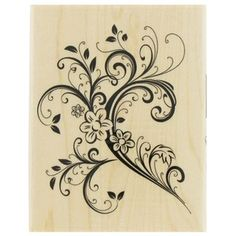 Paper Inspirations Floral Flourish Rubber Stamp | Shop Hobby Lobby