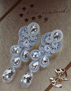 awesome awesome Soutache jewellery: MADELINE ECRU...