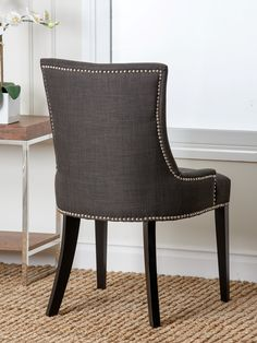 abbyson living hudson nailhead dining chair wayfair