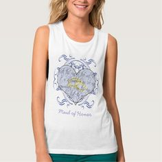 Maid of Honor Wedding Vow Flowy Muscle Tank Top Tank Tops