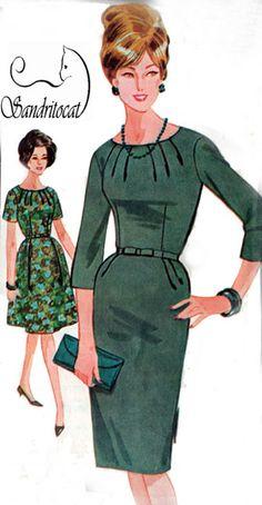 1960 Vintage Sewing Pattern Advance 3296 MadMen by sandritocat, $25.00