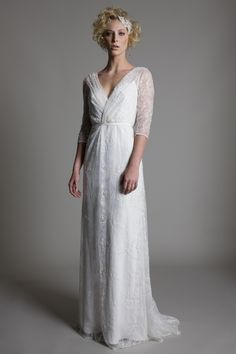 www.halfpennylondon.com bridal, wedding dresses, lace, vintage, london, bridaldress, weddingdress, embroidered, appliqued, silk, satin, tuille, backless wedding dress, backless, beaded, embellished wedding dress, cowl neck, satin, bias silk, lace capped sleeves, tuille skirt, tuille trains, long trains