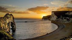 sunset sea landscape beach hd wallpapers download