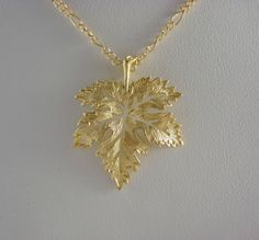 Gold Plated LEAF charm necklace Leaf by DazzlingJewelryBox on Etsy, $23.00