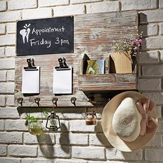 Torched Wood Wall Mounted Message Board  || #Farmhouse #FarmhouseDecor #MessageBoard #MemoBoard #Chalkboard #HomeOffice #Organization Hanging Mail Organizer, Torch Wood, Mail Sorter, Sweet Home, Farmhouse Wall Decor, Rustic Farmhouse, Farmhouse Furniture, Farmhouse Office, Farmhouse Sinks