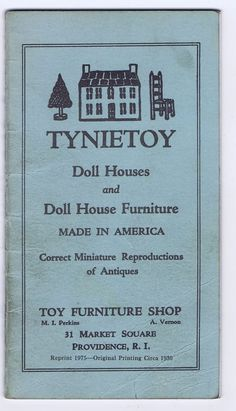 Rare Antique Vintage Tynietoy Doll Houses Furniture Catalog 1973 Miniatures