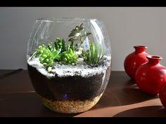 Montando seu Terrário de Suculentas e Cactos - YouTube Garden Landscape Design, Garden Landscaping, Cactus, Dish Garden, Terrarium Diy, Plantar, Glass Jars, Succulents, Make It Yourself